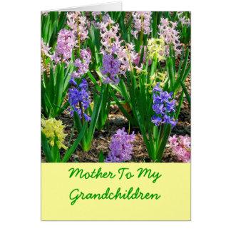 """""""Madre tarjeta del día de madre de mis nietos"""""""