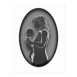Madre y bebé - broche NUEVO Fashoined viejo Postal