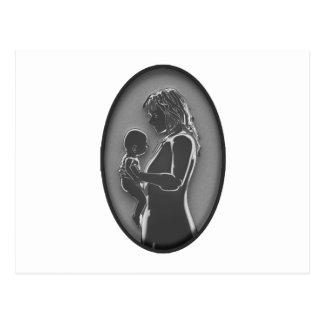 Madre y bebé - broche NUEVO Fashoined viejo Postales