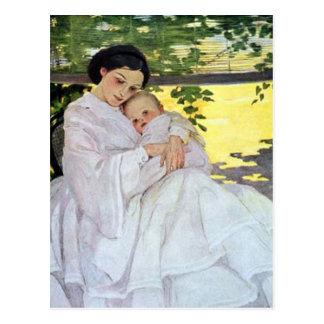 Madre y bebé postal