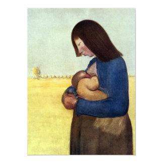 Madre y niño de maternidad comunicados personalizados