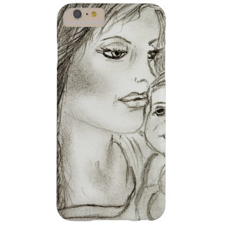 Madre y niño funda barely there iPhone 6 plus