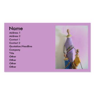 Madre y niños tarjeta de visita