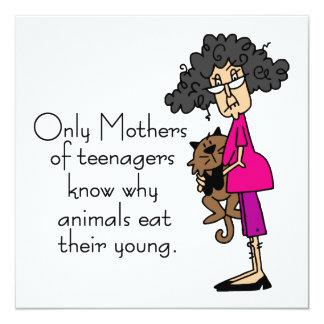 Madres de adolescentes invitación 13,3 cm x 13,3cm