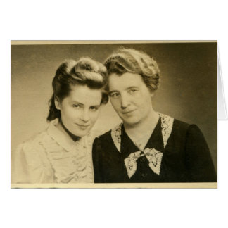 Madres e hijas tarjeta de felicitación