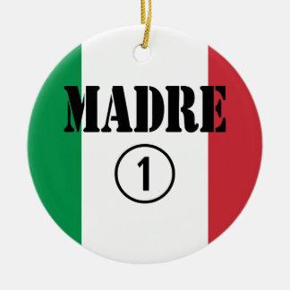 Madres y mamáes de lengua italiana: Uno de Madre Adorno Redondo De Cerámica