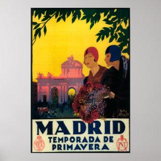 Madrid en poster promocional del viaje de la prima póster
