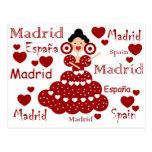 Madrid España muñeca flamenca Postal