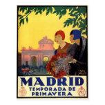 Madrid Temporada de Primavera - poster del arte Postal