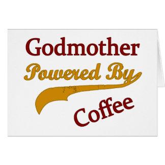 Madrina accionada por el café tarjeta de felicitación