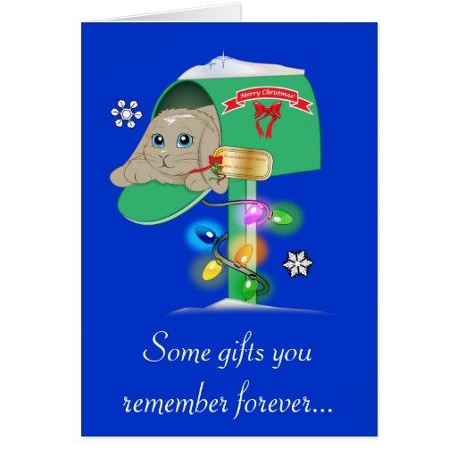 Madrina: Conejito de la sorpresa del navidad en bu Tarjetón