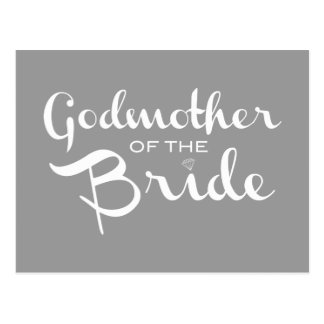 Madrina del blanco de la novia en gris postal
