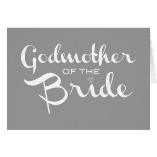 Madrina del blanco de la novia en gris felicitacion