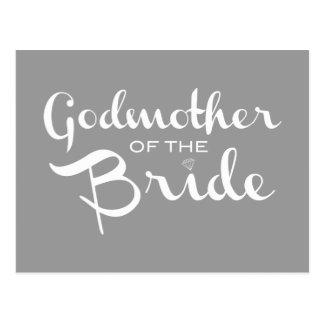 Madrina del blanco de la novia en gris
