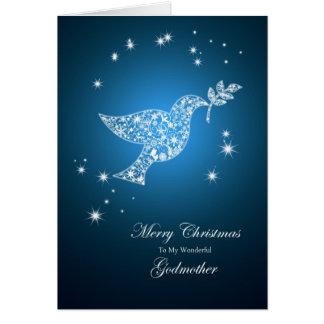 Madrina, paloma de la tarjeta de Navidad de la paz