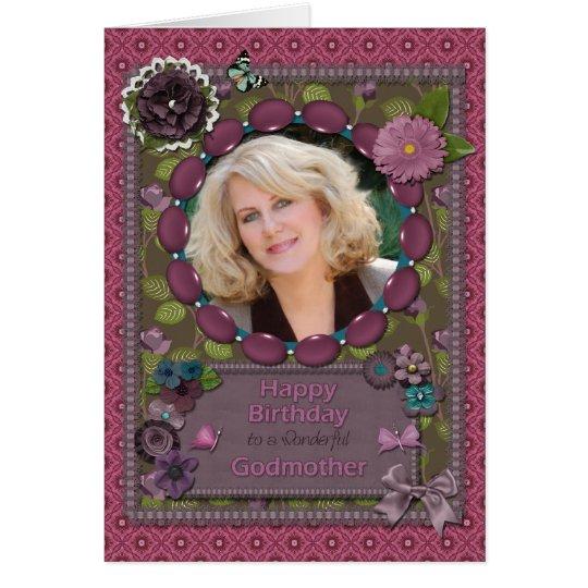 Madrina, tarjeta de la foto para un cumpleaños