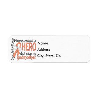 Madrina uterina del cáncer del héroe necesario del etiqueta de remitente