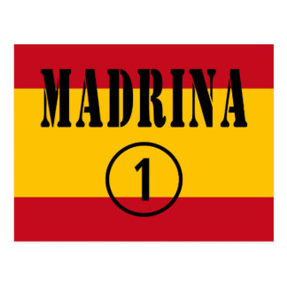 Madrinas españolas: Uno de Madrina Numero Postal