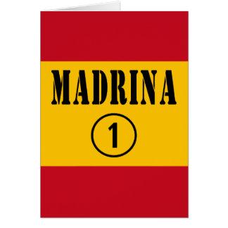 Madrinas españolas: Uno de Madrina Numero Felicitación