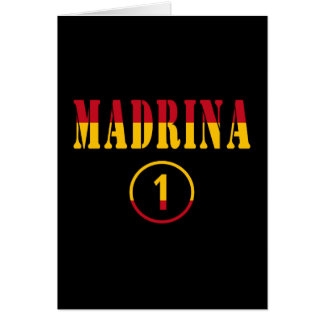 Madrinas españolas: Uno de Madrina Numero Tarjeta Pequeña