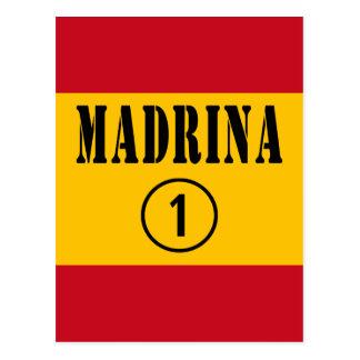 Madrinas españolas: Uno de Madrina Numero Postales