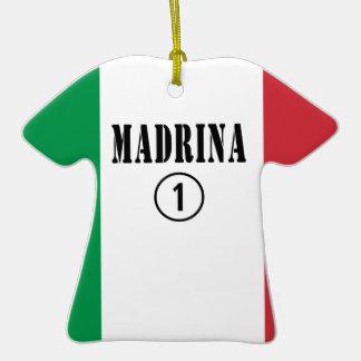 Madrinas italianas: Uno de Madrina Numero Adorno De Cerámica En Forma De Camiseta