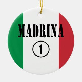 Madrinas italianas: Uno de Madrina Numero Ornamento Para Arbol De Navidad