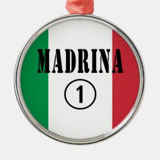 Madrinas italianas: Uno de Madrina Numero Adorno De Navidad