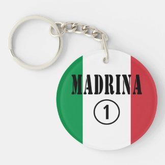 Madrinas italianas: Uno de Madrina Numero Llavero Redondo Acrílico A Una Cara