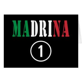 Madrinas italianas: Uno de Madrina Numero Tarjeta De Felicitación