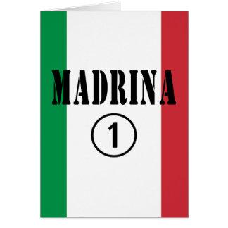 Madrinas italianas: Uno de Madrina Numero Tarjeta Pequeña