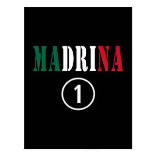Madrinas mexicanas Uno de Madrina Numero Tarjeta Postal
