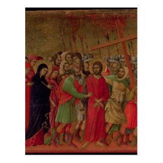 Maesta: El camino al Calvary, 1308-11 Postal