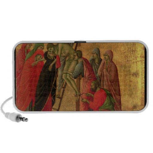 Maesta: Pendiente de la cruz, 1308-11 Sistema Altavoz