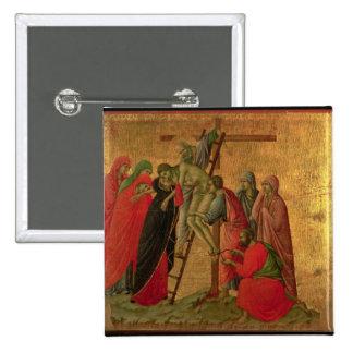 Maesta: Pendiente de la cruz, 1308-11 Chapa Cuadrada 5 Cm