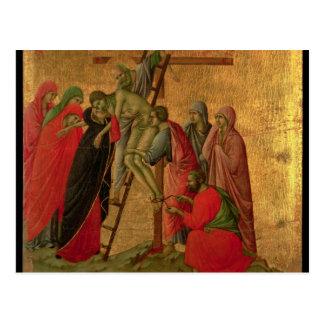 Maesta: Pendiente de la cruz, 1308-11 Postal