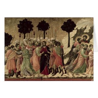 Maesta: Traición de Cristo, 1308-11 Tarjeta De Felicitación