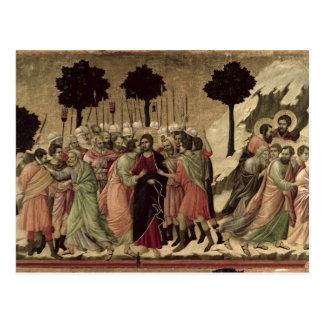 Maesta: Traición de Cristo, 1308-11 Tarjeta Postal