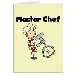 Maestro cocinero - hembra tarjeta