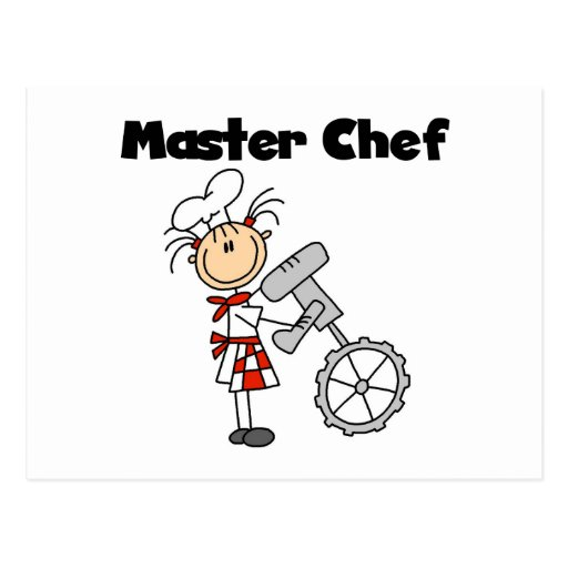 Maestro cocinero - hembra tarjetas postales