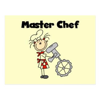 Maestro cocinero - hembra postales