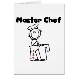Maestro cocinero tarjeta