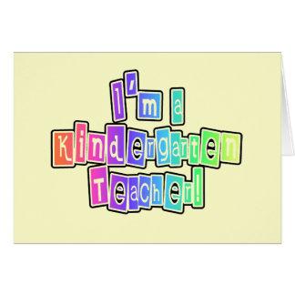 Maestro de jardín de infancia brillante de los col felicitación