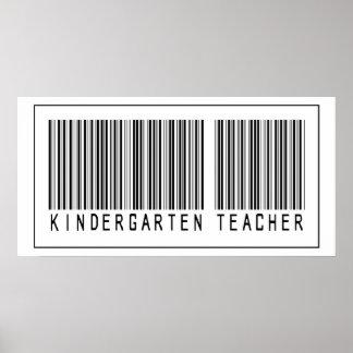 Maestro de jardín de infancia del código de barras impresiones