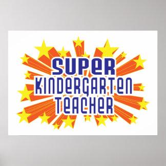 Maestro de jardín de infancia estupendo posters
