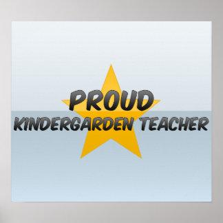 Maestro de jardín de infancia orgulloso posters