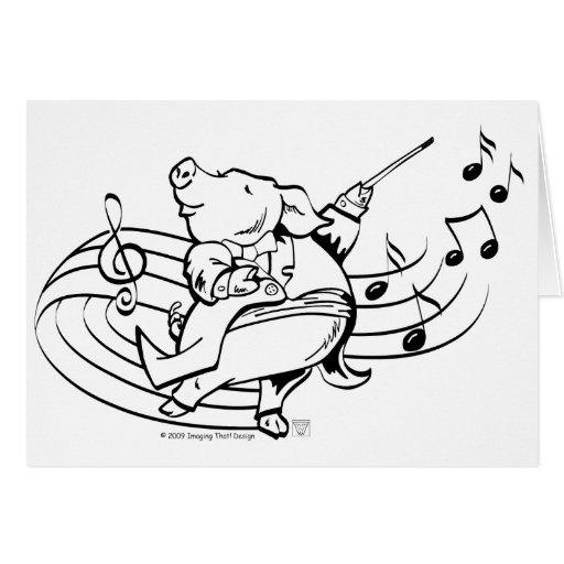 Maestro del cerdo felicitación