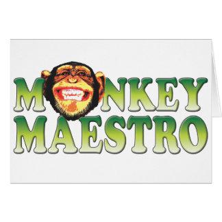 Maestro del mono felicitaciones