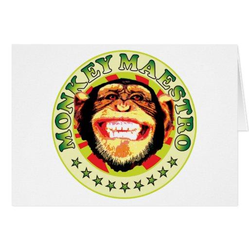 Maestro del mono tarjeton