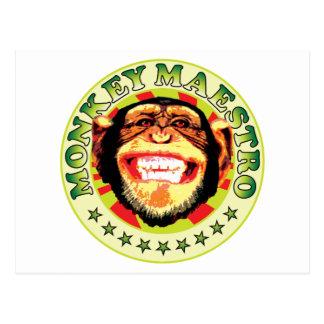 Maestro del mono postales